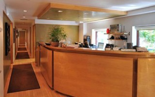 Dr. Termine's office and front desk